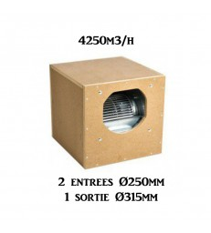 AIR BOX ONE ECO MDF-BOX 60X60X60 4250M3 2 X 250 / 1 X 315