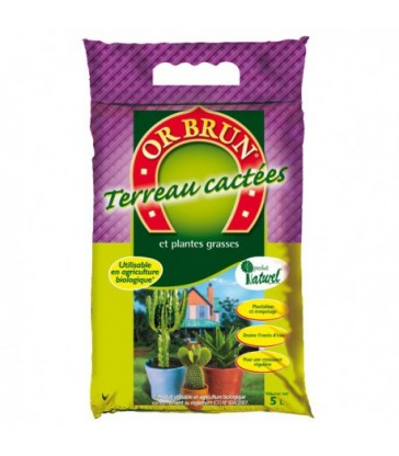 OR BRUN TERREAU CACTEES 5L