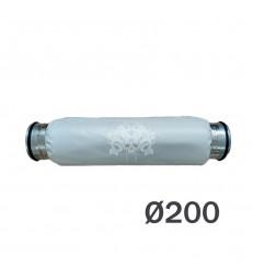 SILENCIEUX SOUPLE FLANGE METAL  Ø200mm
