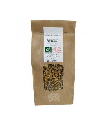 Fleurs de Camomille séchées bio pour infusions, aromathérapie et vaporisation (via vaporisateurs)