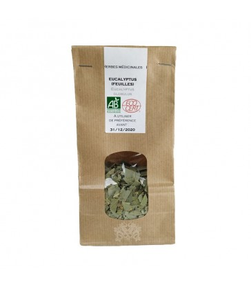 Feuilles d'Eucalyptus séchées bio pour infusions, aromathérapie et vaporisation (via vaporisateurs)