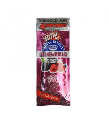 BLUNTS DE CHANVRE HEMPARILLO BERRIES (FRUITS ROUGES) SACHET DE 4