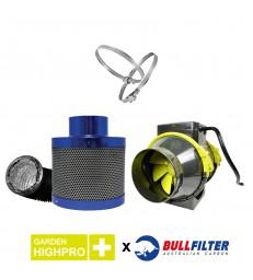 PACK EXTRACTEUR TT 100mm 190m3/H + FILTRATION BULL FILTER