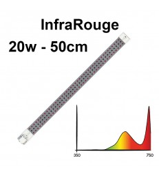 COSMORROW TUBE LED  50cm INFRAROUGE 20W ETANCHE