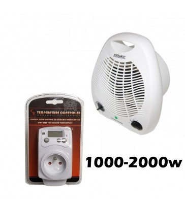 PACK Thermostat + chauffage 1000-2000w