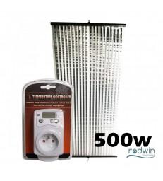 PACK Thermostat + Chauffage Ultra Plat 500W