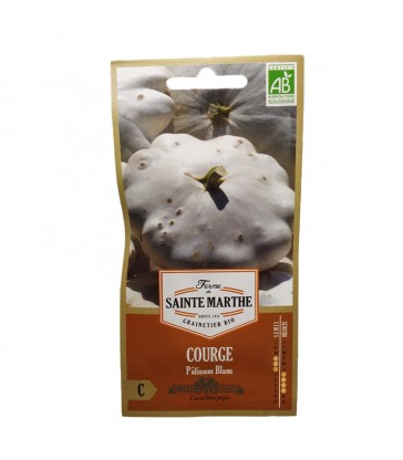 GRAINES BIO - COURGE PATISSON BLANC