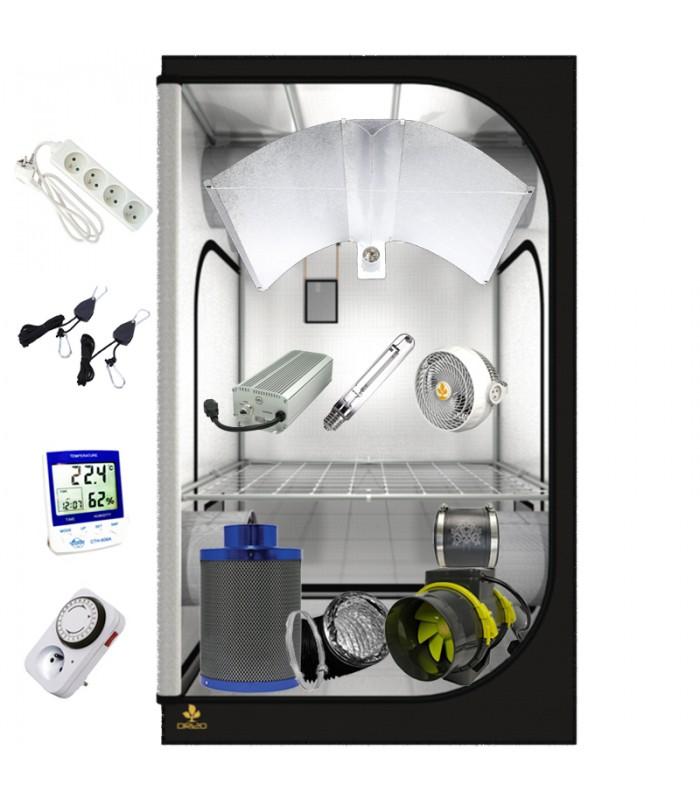 PACK COMPLET DARK ROOM 120x120 - ECLAIRAGE HPS 600w ELECTRONIQUE